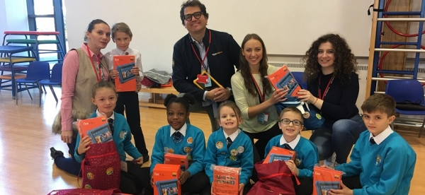 Images courtesy of author // Amazon bring Kindle Fires to the school.