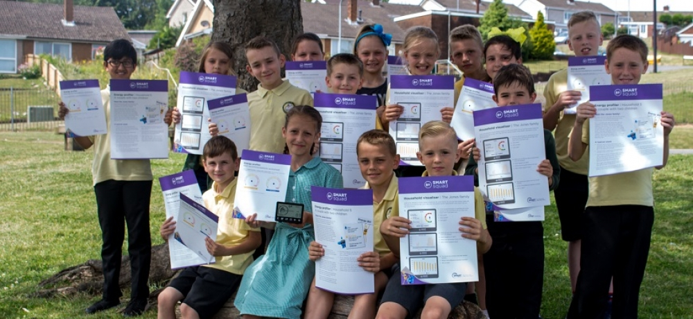 The pupils of Alway Primary School with SMART Squad resources // Laura Jayne.